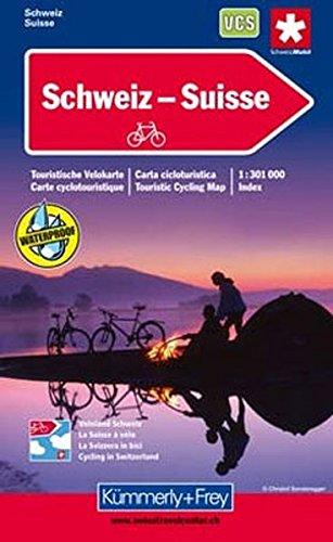 Switzerland Cycle Map 2014 por KUMMERLY+FREY VELOREISEKARTE