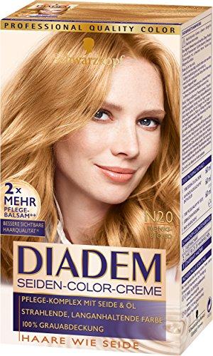 Schwarzkopf Diadem Seiden-Color-Creme, N20 Honigblond Stufe 3, 3er Pack (3 x 180 ml)