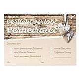 Hochzeitskarten Holzoptik Artographen