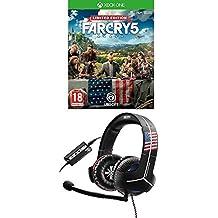 Far Cry 5 - Edición Limited [Exclusiva Amazon] + Thrustmaster - Auriculares Y-350CPX Far Cry 5 Edition, Sonido 7.1 (PS4, PS3, Xbox One, Xbox360, PC, VR, Nintendo Switch)