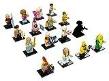 LEGO Minifiguren Serie 17 71018 - komplette Serie alle 16 verschiedenen Figuren mit 6 verschiedenfarbigen GALAXYARMS Stäben abgerundet