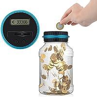 ONEVER Creative Digtal Münze Jar Automatische Münze Zähler Geld Bank Sparen Box mit LCD Dispaly, 2,5L große Kapazität für Münzen, perfekte Geschenk für Kinder preisvergleich bei kinderzimmerdekopreise.eu
