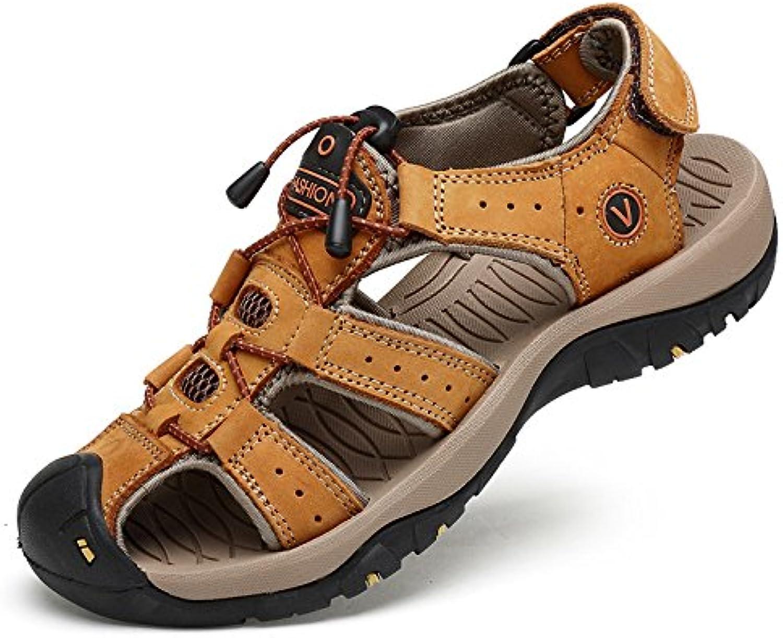 Sandalias para Caminar De Cuero para Hombres Zapatos De Senderismo Cerrados para Caminar Al Aire Libre Calzado...