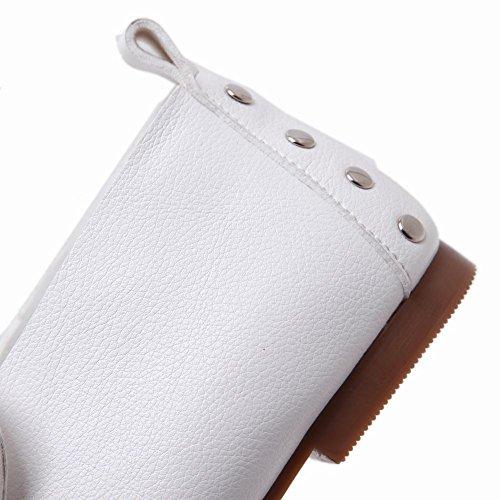 MissSaSa Donna Scarpe Senza Tacco Casual Black e White Bianco