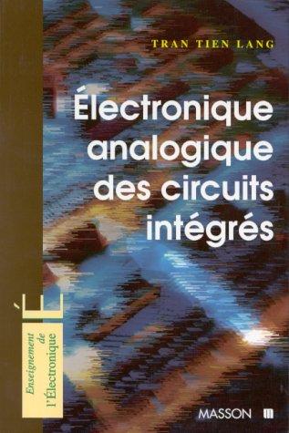 Électronique analogique des circuits intégrés