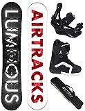 AIRTRACKS SNOWBOARD SET - BOARD LUMINOUS WIDE 157 - SOFTBINDUNG SAVAGE - SOFTBOOTS STRONG 40 - SB BAG