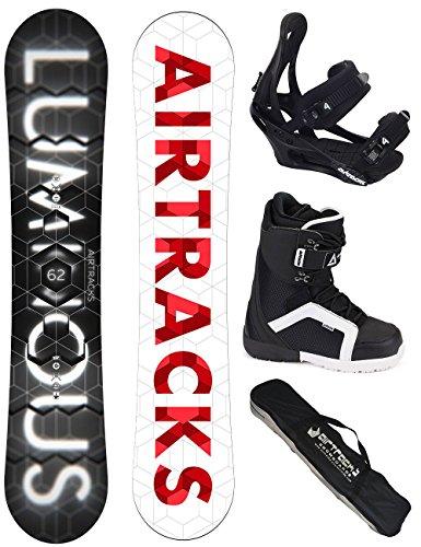 AIRTRACKS SNOWBOARD SET - BOARD LUMINOUS WIDE 159 - SOFTBINDUNG SAVAGE - SOFTBOOTS STAR 46 - SB BAG