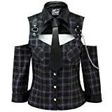 Killstar Hemd Kalista Teachers Pet Shirt Tartan Violett XS