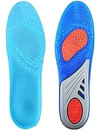HLYOON GEL Sportkomfort schneidbare Einlegesohlen für Stoßdämpfung, Fersenschutz und Fußbogenstütze, entlasten Fußschmerzen und Fasciitis