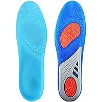 HLYOON SSXDDEL, HLYOON GEL Sport Orthotic Einlegesohlen, Full Length Performance Schuh Einlegesohlen, entlasten Fußschmerzen und Fasciitis (Männer EUR 41-47 (Gr. L))