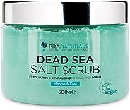 PraNaturals Exfoliante Corporal de Sal del Mar Muerto Mezclado con Aceites de Mango y Kiwi 500g 100% Body Scru