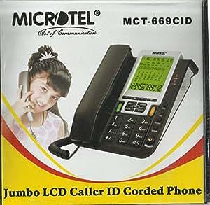 Microtel Caller ID Corded Phone Landline Land Line model MCT-669CID