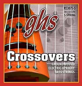 Ghs nS 3075–5 crossovers modèle basse 5 cordes noir)