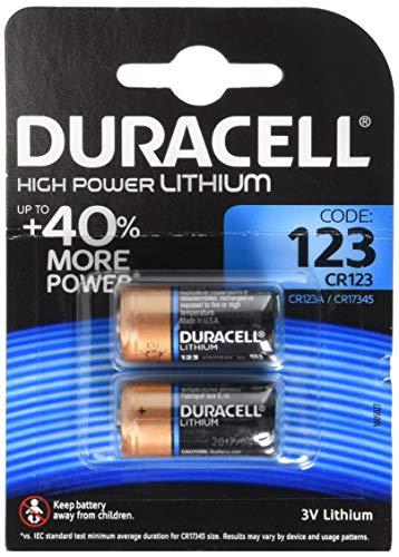 Duracell DL123A Ultra Lithium 123 Batterie (2-er Blister) schwarz/Kupfer Duracell 123 Lithium-batterie