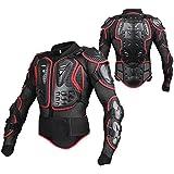 linsone Rojo/Negro Unisex Armadura Motocross Motos Montaña Ciclismo Patinaje snowboard Spine Pecho costillas Codo protector Bionic Jacket