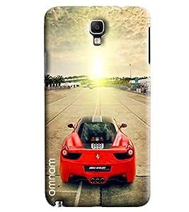 Omnam Red Black Ferrari On Track Printed Designer Back Cover Case For Samsung Galaxy Note 3 Neo