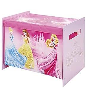 Disney Princess Kids Toy Box Bedroom Storage With Child