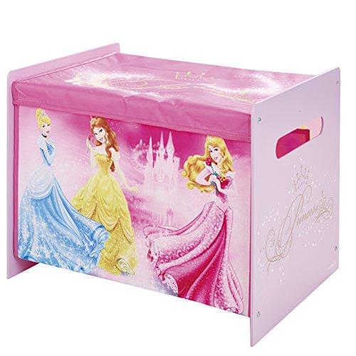 Hello Home Disney Princess - Juguetero, 39,5 x 39,5 x 51 cm, color rosa
