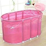 YGR yugang yupen Faltung Badewanne Badewanne aufblasbare dicke Isolierung warm Erwachsenen Badewanne Badewanne für Kinder (Farbe : Pink)