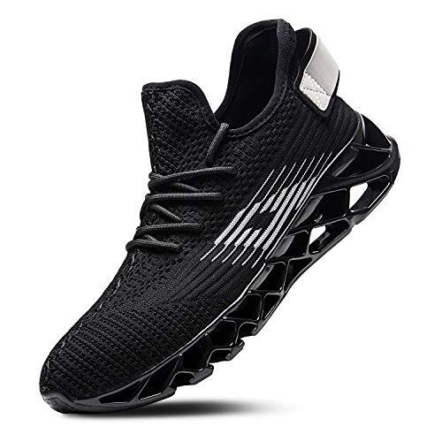 Mabove Laufschuhe Herren Damen Turnschuhe Sportschuhe Straßenlaufschuhe Sneaker Atmungsaktiv Trainer für Running Fitness Gym Outdoor(Schwarz/Dh66,42 EU)