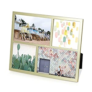 Umbra Senza Multi Photo Display, Metal, Gold