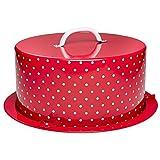 RBV Birkmann 431935 Metallkuchenbox CakeCouture, rot, Ø 36 cm