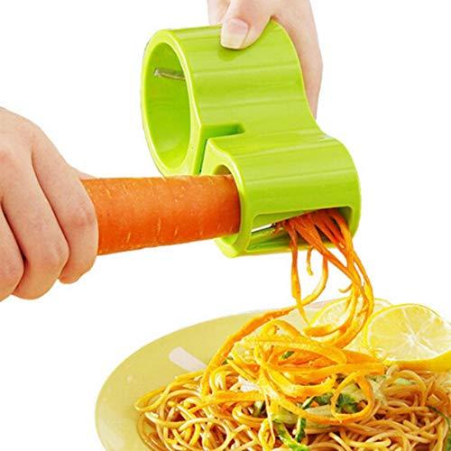 Sunnyflowk Cortador de Verduras en Espiral multifunción Afilador de Doble rallador Cocina Herramientas...