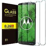 Moto G6 plus Schutzfolie, KuGi 9H Panzerglas Hartglas Glas Display Schutzfolie [Blasenfrei] [HD Ultra] [Anti-Kratzer] Displayschutzfolie Displayschutz Screen Protector Für Moto G6 plus smartphone. (transparent)