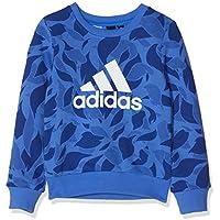 Adidas YG Crew Sweat Sudadera, Niñas, Azul (hi-Res Blue/Mystery Ink) / Blanco, 152 (11/12 años)