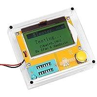 KOOKYE Mega328- Tester transistor, capacità diodo triodo, misuratore ESR MOS/PNP/NPN L/C/R, con custodia trasparente - Potenza Fet