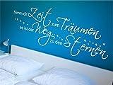 x-modeling® Wandtattoo Nimm dir Zeit zu Träumen Schlafzimmer Sprüche Zitat M1357 schwarz 120cm x 46cm