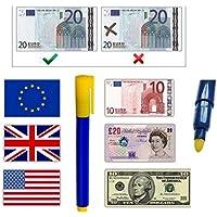 JJONLINESTORE – Fake contraffatti forgiato banconote rivelatore di valuta Checker Tester Penna Evidenziatore Penne