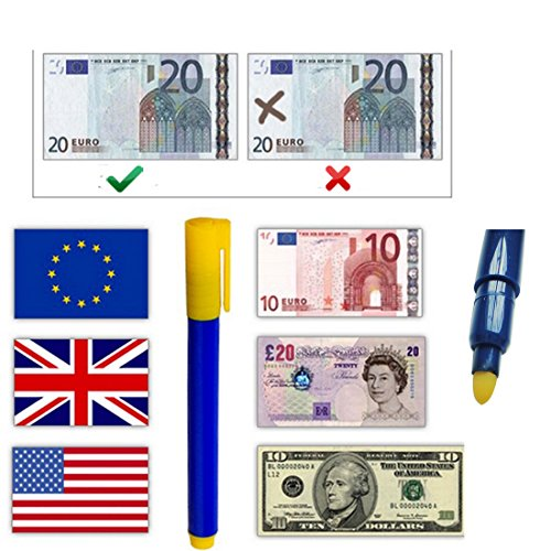 JJONLINESTORE-Fake contraffatti forgiato banconote rivelatore di valuta Checker Tester Penna Evidenziatore Penne 4 Mats (16 SQ FT)