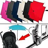 ALTABEBE SONNENSCHIRM Ø 70 cm (UV-SCHUTZ 50+) für Kinderwagen/Buggy (WASSERABWEISEND) Schirm (ROT)