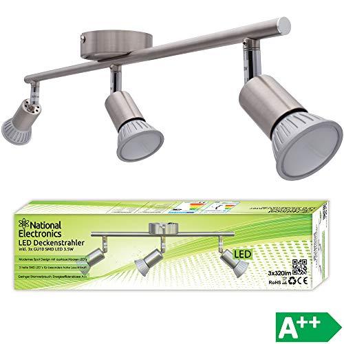 Lámpara de techo LED National Electronics Spot GU10 inclusive 3.5W 320lm LED Bombillas 3 Flama (10.5 Watts)
