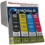 4 komp. XL Druckerpatronen für Epson 29XL Epson Expression Home XP-235 XP-332 XP-335 XP-432 XP-435.