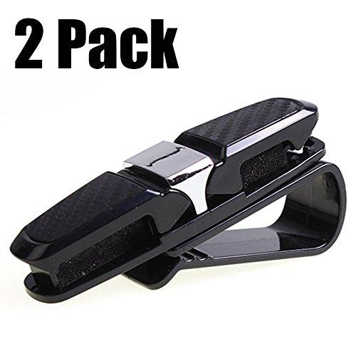 Preisvergleich Produktbild Auto Brillenhalter Brillenhalterung - Sonnenbrillenhalterung für Sonnenblende im Auto PKW LKW KFZ Brillenablage (2 Pcs)