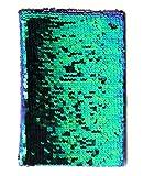 Bada Bing Carnet de notes avec paillettes réversibles Pfau (Blau/Grün)/Schwarz