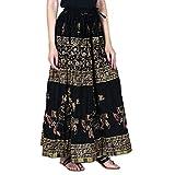 Rangsthali Gold printed Cotton long Skir...