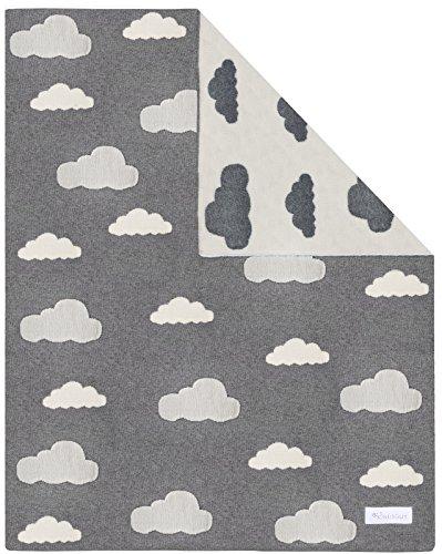 Kindsgut Kinderdecke, weiche Baby-Decke, Wolken
