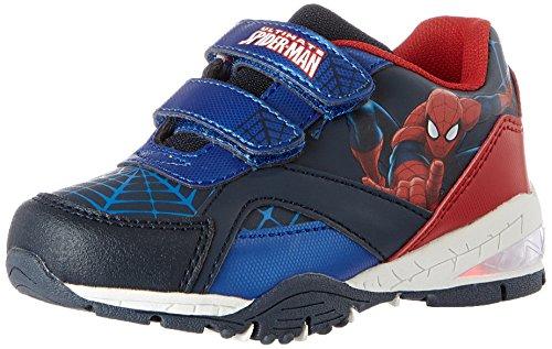 Spiderman Jungen SP004385 Sneaker, Blau (Navy/L.Navy/C.Blue/Navy/Red), 25 (Für Spiderman Schuhe Kinder)