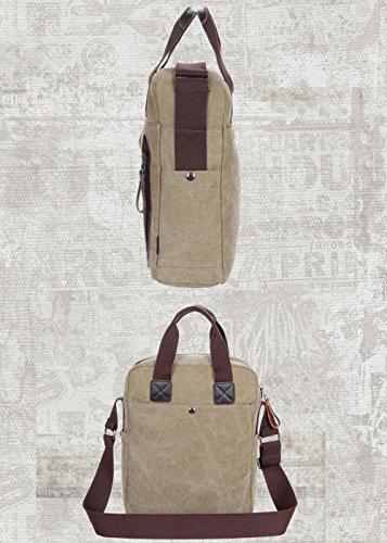 DOXUNGO Unisex Handtasche Segeltuch Fashion Umhängetasche Herren Damen für Bussiness Arbeit Freizeit Reisen Wandern Fahrradfahren Hellblau