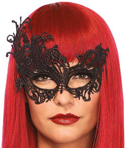 Material Kostüm Ihr Für Strut Erwachsenen - Leg Avenue 3747 - Fantasy Venezianischen Applikation Augenmaske - Einheitsgröße, schwarz