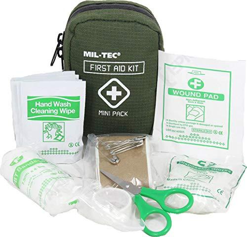 Kit de premiers secours Mini Pack Mil-Tec vert