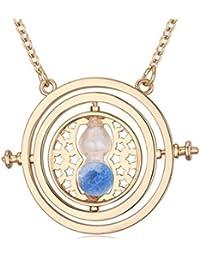 Harry Potter Hermione 's Time Turner Granger - Collar de cristal giratorio