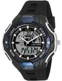 Vizion Black Dial Analog-Digital Dual Time BLUE Shade Watch For Men-8006016AD-3