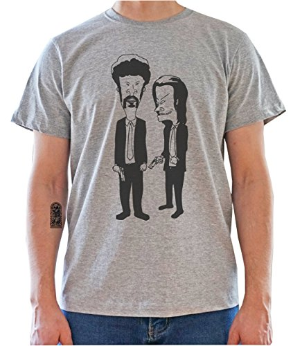 Beavis And Butthead Pulp Fiction Characters Funny Graphic Mens T-Shirt