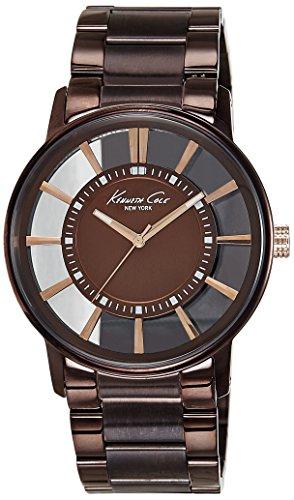 kenneth-cole-kc9047-montre-homme-quartz-analogique-bracelet-acier-inoxydable-marron