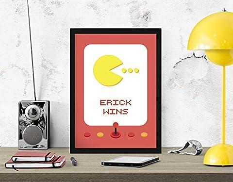 Personnalisé Pac Man pac homme Arcade Machine numérique art impression décoration murale affiche