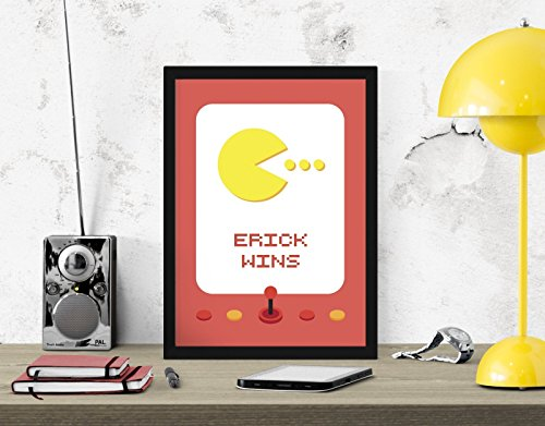 personnalise-pac-man-pac-homme-arcade-machine-numerique-art-impression-decoration-murale-affiche